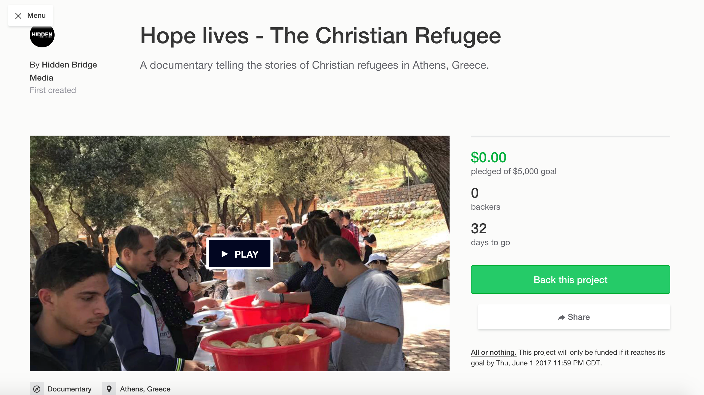 The Christian Refugee Documentary